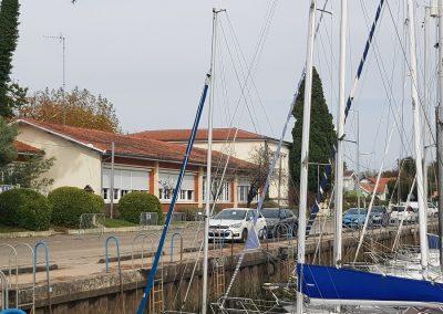 Projet des écoles du Betey et Ferry - école du Betey, Andernos avec vue sur le port